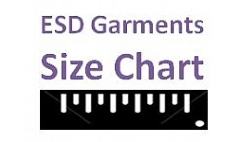 ESD Garments Size Chart